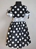 Детское нарядное платье сарафан для девочки 140 размер черного цвета 7843, фото 1