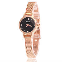 Женские часы с металлическим ремешком золотистые