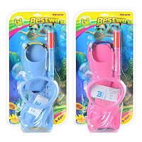 BW Набор для плавания 25018 (6шт) ласты,маска,трубка,3-6лет,2 цвета(роз,голуб),в слюде,40,5-22-10см