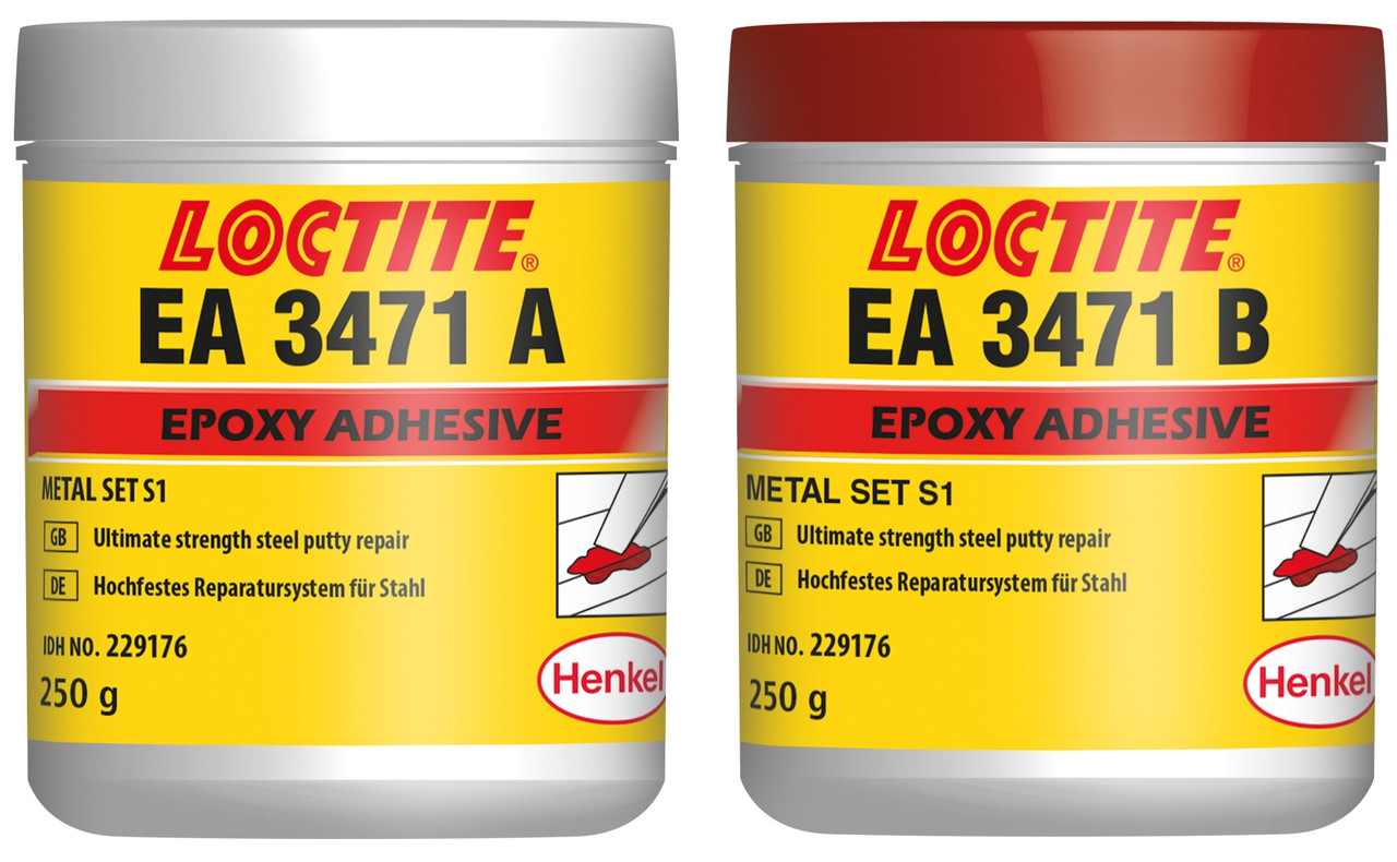 Шпатлевка ремонтная эпоксидная металлонаполненная Loctite EA 3471 (А+В=1+1), 2х250 гр