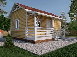 Каркасный дачный дом 3,8 x 4,8 м