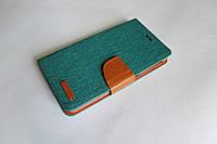"""Универсальный чехол для телефона книжка Remax 5.3-5.7"""" зеленый, фото 1"""