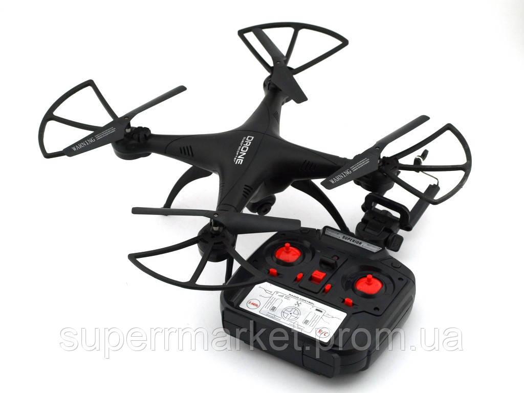 Квадрокоптер 1 million Wi-Fi 1000000 с камерой, дрон копия Syma X5C drone, черный