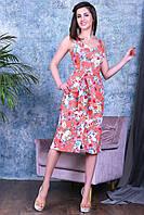 Модный женский летний сарафан,ткань летний джинс-стрейч ,размеры:44,46,48,50., фото 1