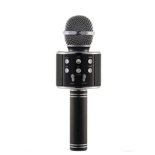 Беспроводной микрофон караоке 858 Черный