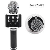 Беспроводной микрофон караоке 858 Черный, фото 2