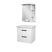 Комплект мебели для ванной комнаты АЛЬВЕУС 60 с умывальником Комо 60