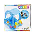 Надувной плот Intex 56581 с навесом Голубой, фото 4