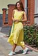 Красивое летнее платье-сарафан 3571желтый, фото 2