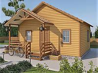 Каркасный дачный дом 5,0 x 6,0 м