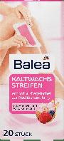 Восковые полоски для депиляции ног, рук, подмышек и линии бикини Balea Kaltwachsstreifen, 20 шт.