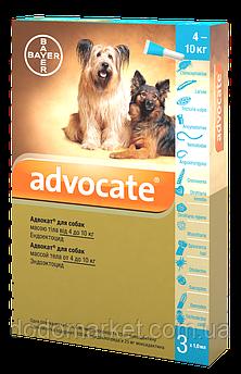Advocate Bayer Адвокат капли для собак весом от 4 до 10 кг 3 пипетки