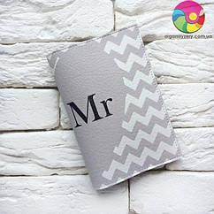 Обложка для паспорта Полу-сердце Mr 2 (серый)