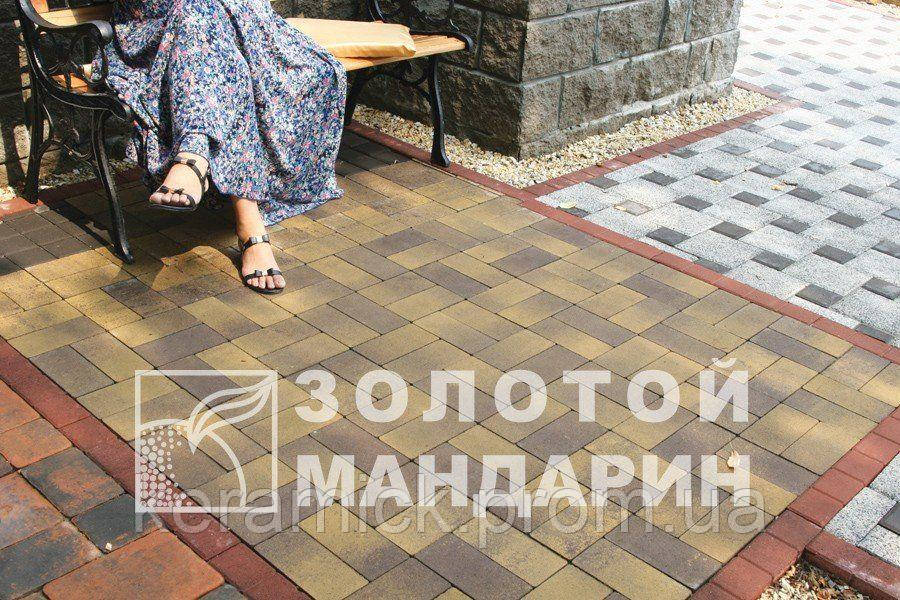 Тортуарная плитка Золотой мандарин Кирпич 200*100(4см)