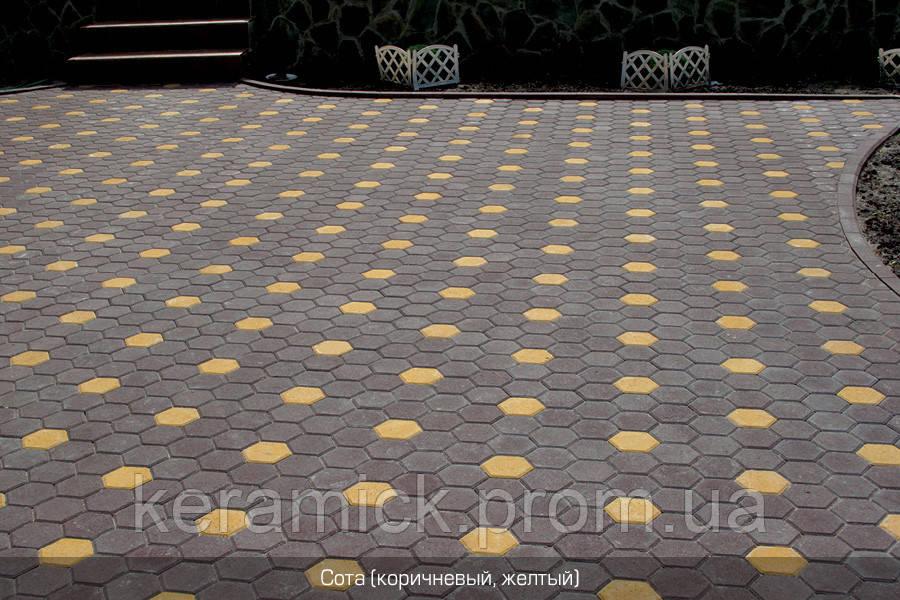 Тортуарная плитка Золотой мандарин Сота140*125(6см)