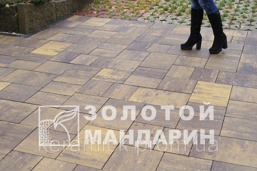 Тортуарная плитка Золотой мандарин Модерн без фаски(6см)