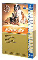 Advocate Bayer Адвокат капли для собак весом от 25 до 40 кг 3 пипетки
