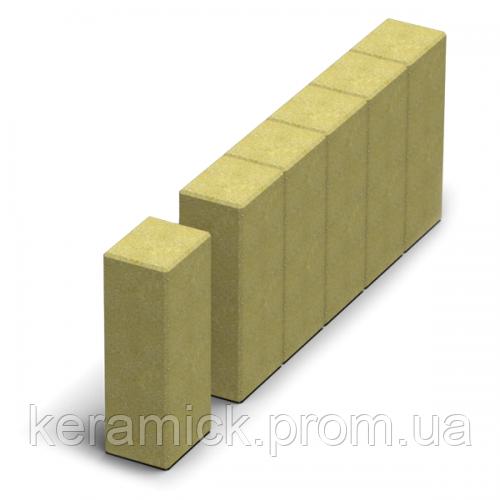 Тортуарная плитка Золотой мандарин Поребрик квадратный(8см)