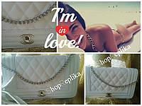 Сумка клатч Шанель Ля Бой Chanel Boy  в белом цвете . Брендовые сумки Лучшая цена , фото 1