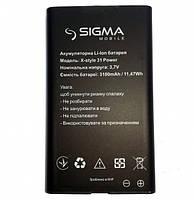 Sigma Аккумулятор Sigma X-style 31 Power оригинал +ПОДАРОК
