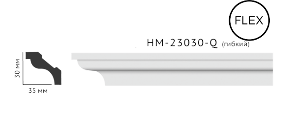 Карниз потолочный гладкий Classic Home HM-23030Q , лепной декор из полиуретана