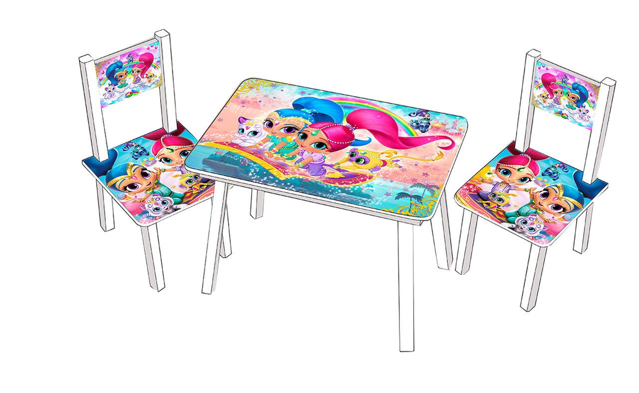 Столик со стульчиками для детей Шиммер и Шаин
