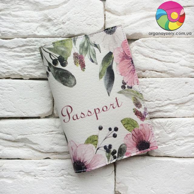 Обложка для паспорта Flowers