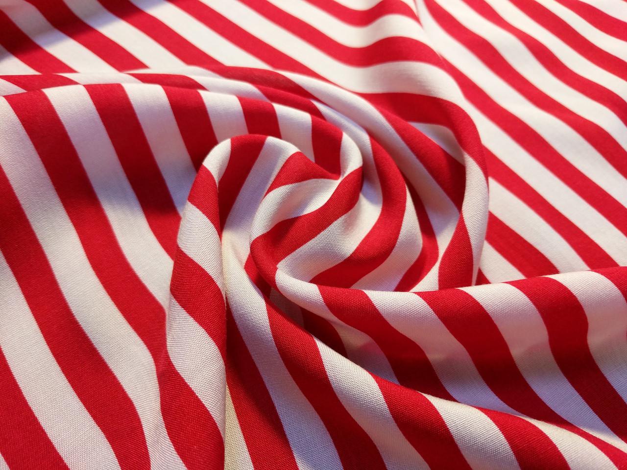 Штапель полоска 10 мм, красный