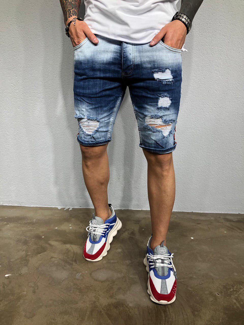 Мужские джинсовые шорты 3321-1075