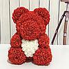 Мишка из 3D роз 40 см с сердечком в подарочной коробке, фото 3