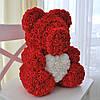 Мишка из 3D роз 40 см с сердечком в подарочной коробке, фото 4
