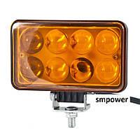 Фара LED светодиодная BELAUTO EPISTAR Spot Amber, 24W, точечный/желтый свет