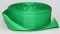 Лента репсовая. Цвет - зеленый. Ширина - 2,5см, длина - 23м, фото 1