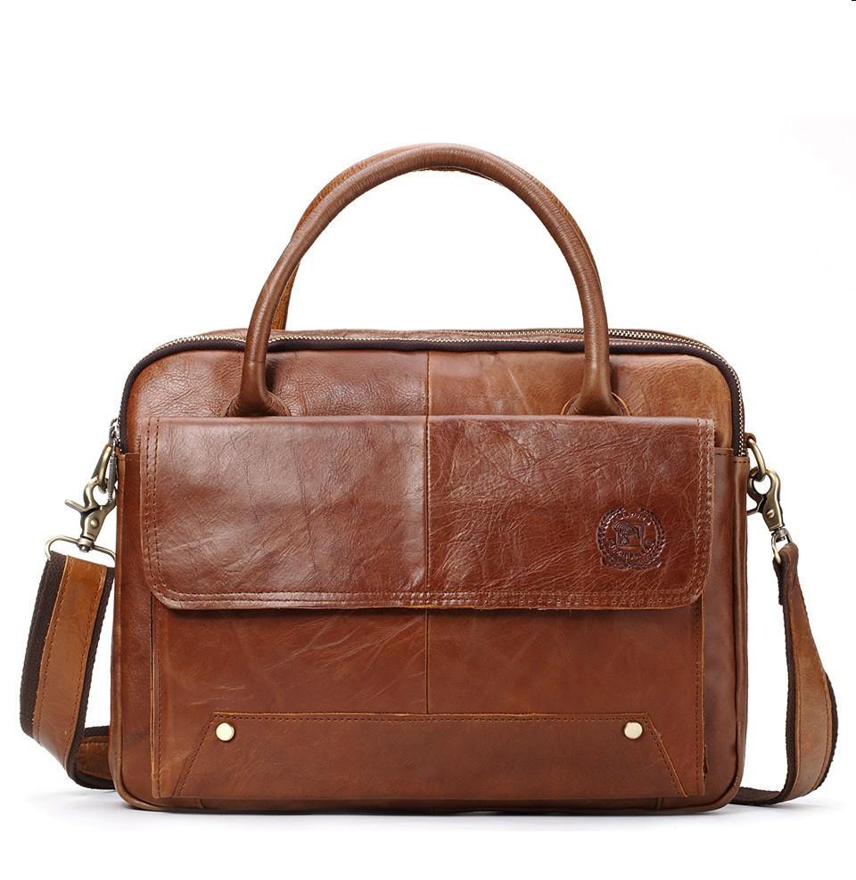 Мужская сумка через плечо Westal FС A4. Натуральная кожа