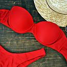Женский купальник бандо красный, фото 3