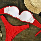 Женский купальник бандо красный, фото 2