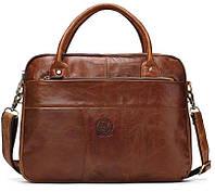 Мужская сумка через плечо Westal Turbo A4. Натуральная кожа