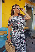 Платье женское летнее нарядное большие размеры (по 64 размер) Г04087, фото 1