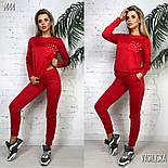 Женский стильный спортивный костюм с жемчугом на карманах и лампасе (в расцветках), фото 5