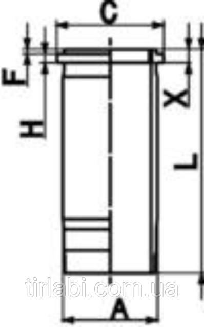 Гильза DAF XF105 (MX…) 2-й ремонт