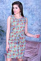 Нарядное цветное женское платье,ткань летний джинс-стрейч,размеры:44,46,48,50., фото 1