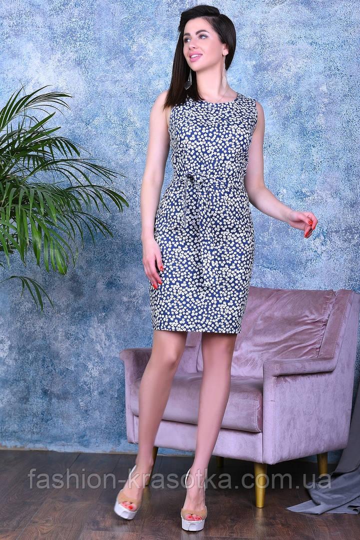 Модное нарядное молодежное платье,ткань летний джинс-стрейч,размеры:44,46,48,50.
