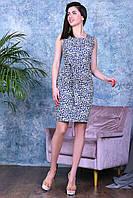 Модное нарядное молодежное платье,ткань летний джинс-стрейч,размеры:44,46,48,50., фото 1