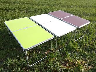 Стол раскладной и 4 стула для пикника салатовый