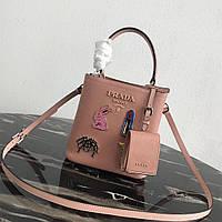 Сумка женская Prada кожа сафьяновая новая коллекция