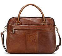 Мужская сумка через плечо Westal JJ A4. Натуральная кожа