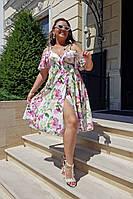 Платье женское летнее нарядное большие размеры  Г04055, фото 1