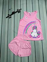 Летняя пижама для девочки (майка+шорты)