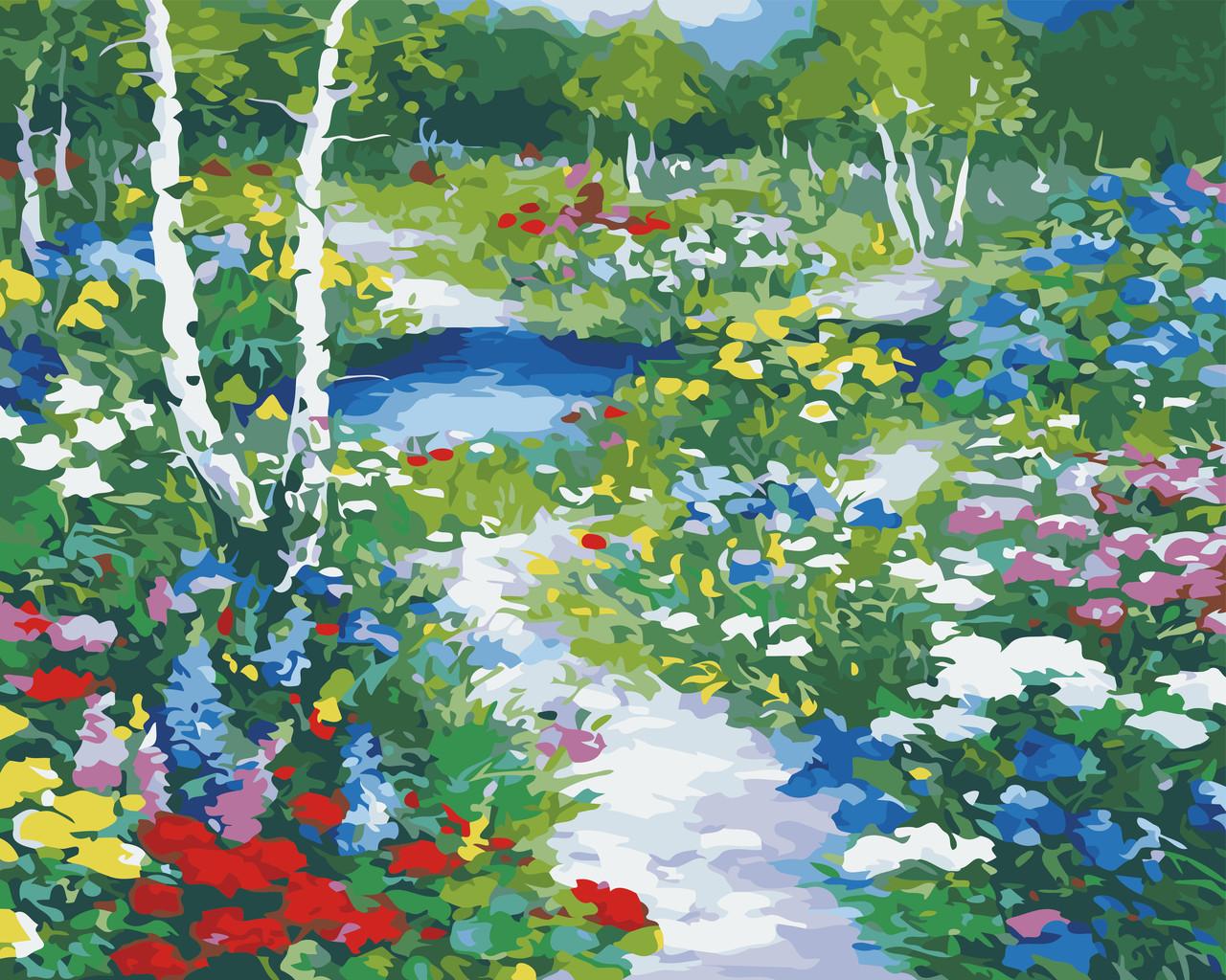 Картины по номерам Цветочная поляна ArtStory AS0545 40 х 50 см