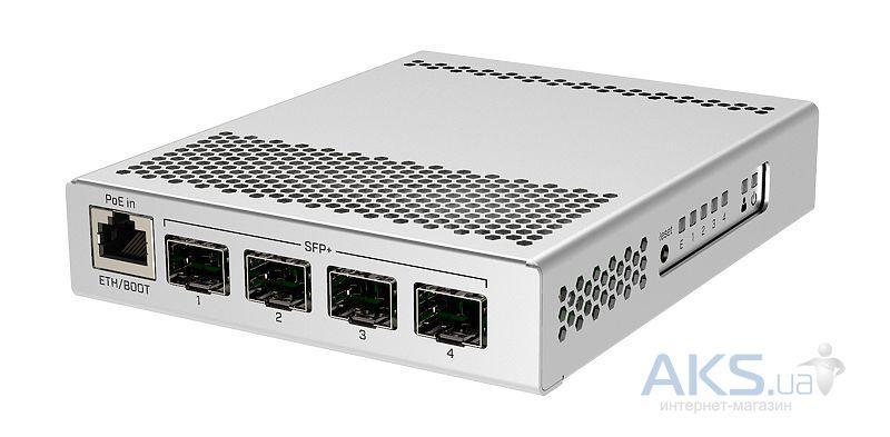 Коммутатор (свитч) Mikrotik CRS305-1G-4S+IN (1x1GE, 4xSFP+, Dual PSU, L3)